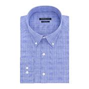 Van Heusen® Indigo Blue Plaid Dress Shirt - Slim Fit
