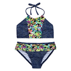 St. Tropez Girls Solid Bikini Set - Big Kid