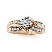 1/4 CT. T.W. Diamond 10K Rose Gold Promise Ring