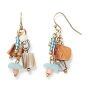 Aris by Treska Multicolor Bead Shower Earrings