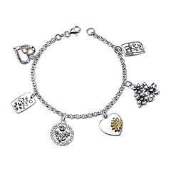 Inspired Moments™ Sterling Silver Daughter Charm Bracelet