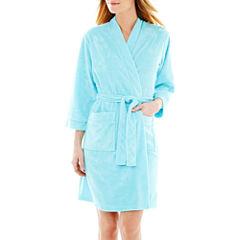 Earth Angels® 3/4-Sleeve Short Wrap Robe