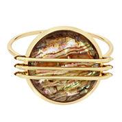 Worthington Womens Green Abalone Bangle Bracelet