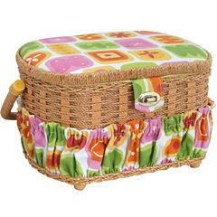 Handmade Sewing Basket, 42-pc. Sewing Kit & Plastic Tray
