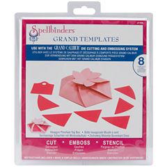 Spellbinders™ Grand Calibur® Dies, 8-pc. Hexagon Pinwheel Top Box Set
