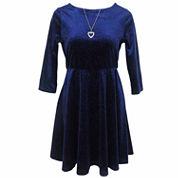 Lilt 3/4 Sleeve Skater Dress - Girls 7-16 and Plus