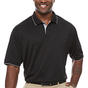 Claiborne Short Sleeve Solid Polo Shirt Big and Tall
