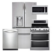 LG ENERGY STAR® Super Capacity French-Door  4-pc. Kitchen Package- Stainless Steel