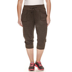 Xersion™ French Terry Workout Capris Plus
