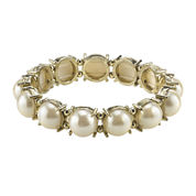 1928® Simulated Pearl Gold-Tone Stretch Bracelet