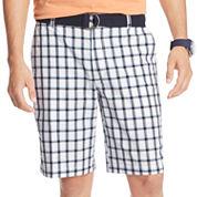 IZOD® Belted Plaid Shorts