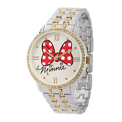 Disney Womens Two-Tone Bow Bracelet Watch