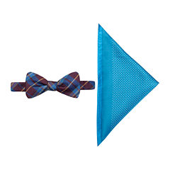 JF J. Ferrar® Charleston Tartan Pre-Tied Bow Tie & Pocket Square Set