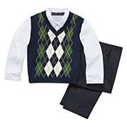 3-pc. Sweater Vest Set - Toddler Boys 2t-5t