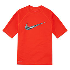 Nike Dri-FIT Water Camo Swoosh Rash Guard - Boys 8-20