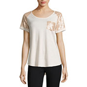 Self Esteem Short Sleeve Round Neck T-Shirt-Juniors