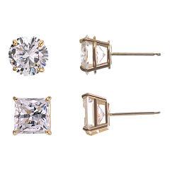 Cubic Zirconia 2-pr. Stud Earring Set
