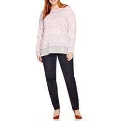 Liz Claiborne® Long Sleeve Layered Shirt or 5-Pocket Slim-Leg Jeans - Plus