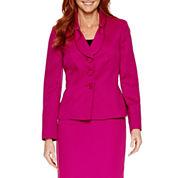 Le Suit Long Sleeve 3-Button Jacket Skirt Suit