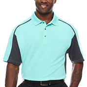 PGA Tour Short Sleeve Solid Mesh Polo Shirt Big and Tall