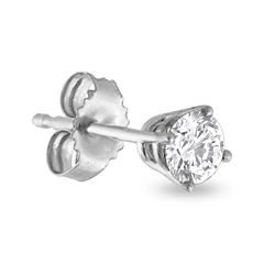 Mens 1/8 CT. T.W. Diamond 14K White Gold Stud Earring