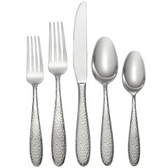 Oneida® Reyna 45-pc. Hammered Flatware Set