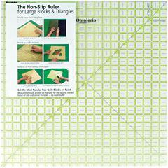 Omnigrip Non Slip Diamond Free Quilters Ruler