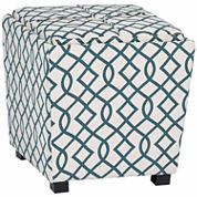 2-Pc Fabric Ottoman Set with tray top