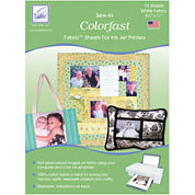 Colorfast Sew In Inkjet Fabric Sheets