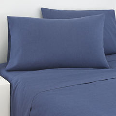 IZOD® Navy Cross-Dyed Sheet Set