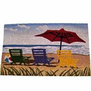 Beach Umbrella Rectangular Doormat - 18