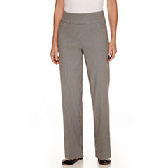Alfred Dunner City Life Woven Flat Front Pants