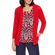 Alfred Dunner Zig Zag Layered Sweater