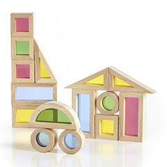 Guidecraft Jr. 20-pc. Rainbow Building Blocks Set