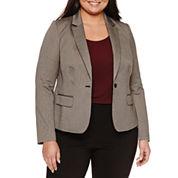Worthington®  Long Sleeve Flap Pocket Blazer - Plus