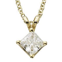 1/2 CT. T.W. Certified Diamond 14K Yellow Gold Pendant