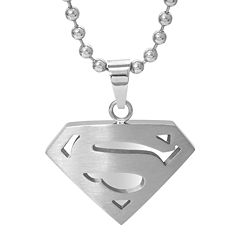 DC Comics® Stainless Steel Superman Pendant