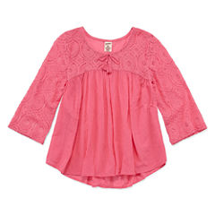 Arizona 3/4 Sleeve Lacey Boho Woven Top - Girls' 7-16 and Plus (copy)