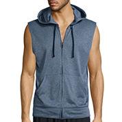 Xersion™ Sleeveless Training Fleece Full-Zip Shirt