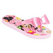 Disney Collection Minnie Mouse Flip Flops - Girls