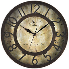 FirsTime® Raised Number Wall Clock