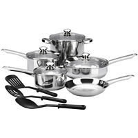 Cooks 12-Piece Essential Stainless Steel Cookware Set