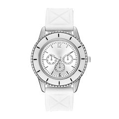 Womens Quilted Silicone Strap Watch