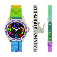 Total Girl Girls Multicolor Watch Boxed Set-Ttg1000jc