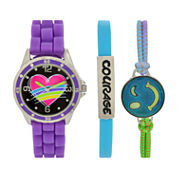 Total Girl Girls Purple Watch Boxed Set-Ttg1002jc