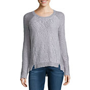 Freshman Long Sleeve Round Neck Pullover Sweater-Juniors