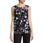 Liz claiborne sleeveless tops for women jcpenney for Liz claiborne v neck t shirts