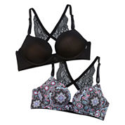 Xoxo 2-pc. Underwire Strappy Back Push Up Bra-Xo4911-2pkb