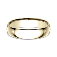 Mens 18K Yellow Gold 5MM Comfort-Fit Wedding Band