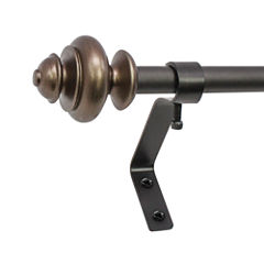 Decopolitan Urn Café 1/2 In Single Curtain Rod